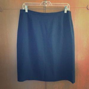Jones New York Black Midi Career Skirt Poly Blend